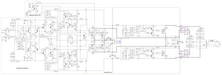 Принципиальная схема усилителя мощности 600 Вт класс H.