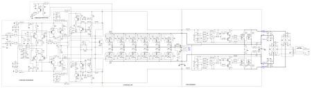 Принципиальная схема усилителя мощности на 1400 Вт класса H.